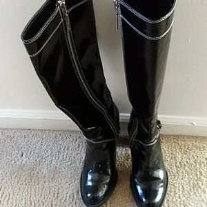 Michael Kors Patent Leather knee high boots 8 W
